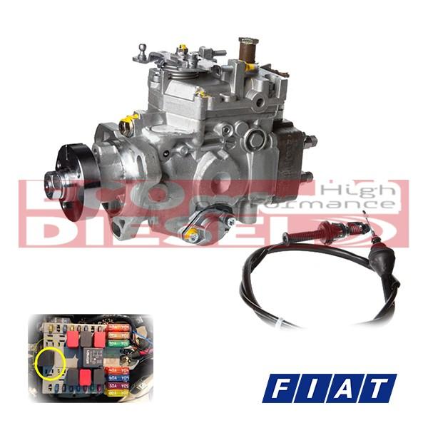 Αντλία Πετρελαίου FIAT Doblo - Strada - Punto - Palio 1,9 cc / Κιτ τροποποιημένη μηχανική αντλία πετρελαίου κατασκευασμένη εξ' ολοκλήρου με καινούρια υλικά της Bosch για αλλαγή της ηλεκτρονικής αντλίας Delphi 8640A121Α σε FIAT Doblo-Strada-Punto-Palio