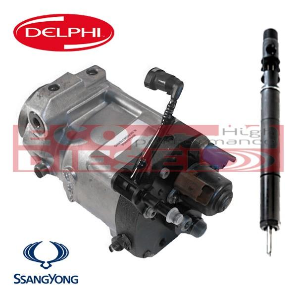 Ssangyong Πακέτο προσφοράς Καινούρια (NEW) Μπεκ - Αντλία - Rail - Πλυστικό για σύστημα ψεκασμού Delphi 2,0L 2,7L - κινητήρες D20DT D27DT