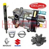 Renault Nissan Dacia Suzuki Πακέτο προσφοράς Καινούρια (NEW) Μπεκ - Αντλία - Rail - Πλυστικό για σύστημα ψεκασμού Delphi 1,5 L K9K...  κινητήρες