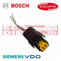 Bosch - Delphi - Siemens Pump Pressure Sensor Socket Wire Connector - ECO-2K005