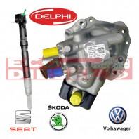 Seat Skoda VW Volskwagen Πακέτο προσφοράς Καινούρια (NEW) Μπεκ - Αντλία για οχήματα με σύστημα ψεκασμού Delphi 1,2 L (τρικύλινδρα)